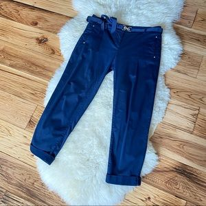 White House Black Market Navy Crop Trousers 6